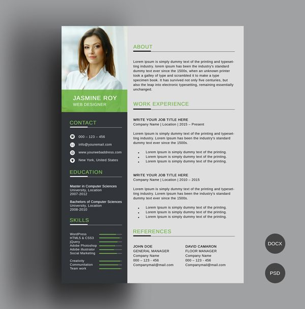 Professional Resume Template Free 2019