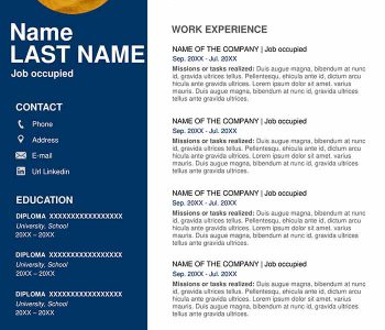 Resume Template Free Download Word 2020