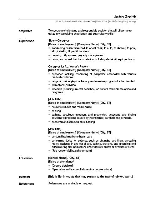 Simple Resume Examples Objective