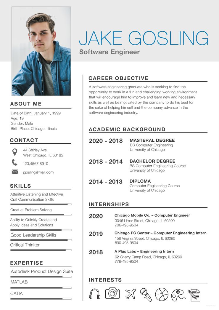 Resume Templates Word Free Download For Freshers