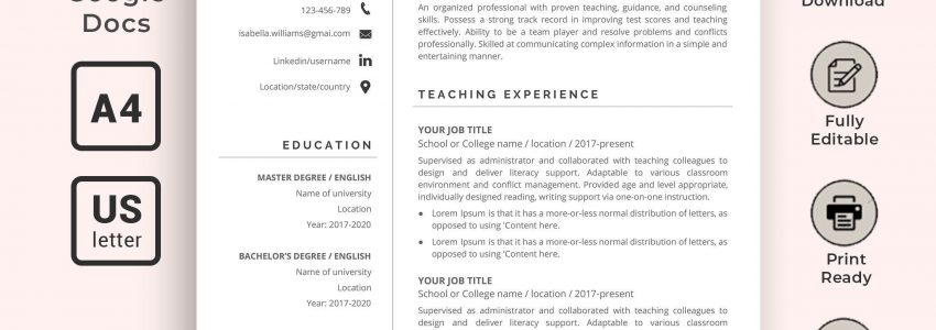 Resume Templates Google Docs For Students