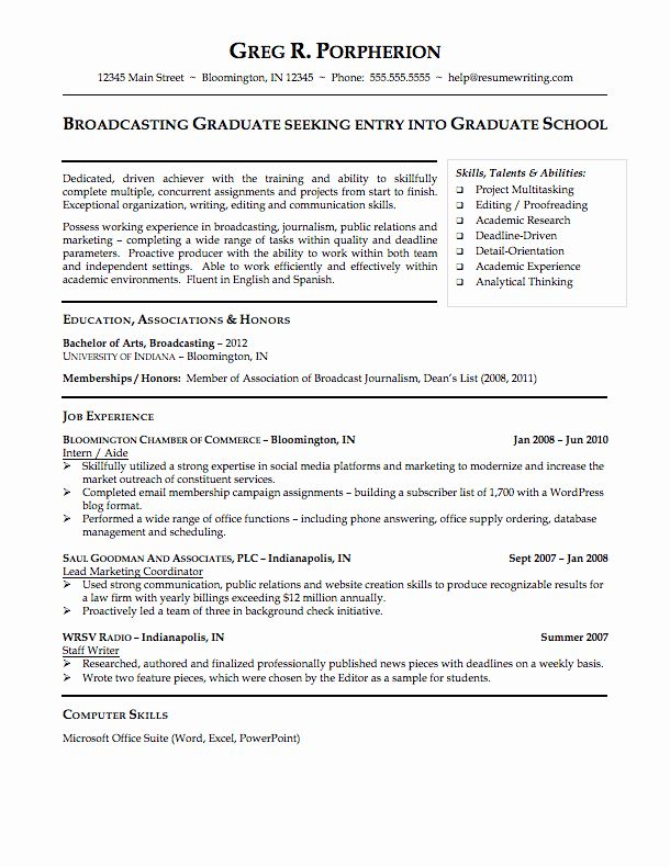 Resume Examples 2020 Student