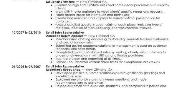 Skills On A Resume For Retail