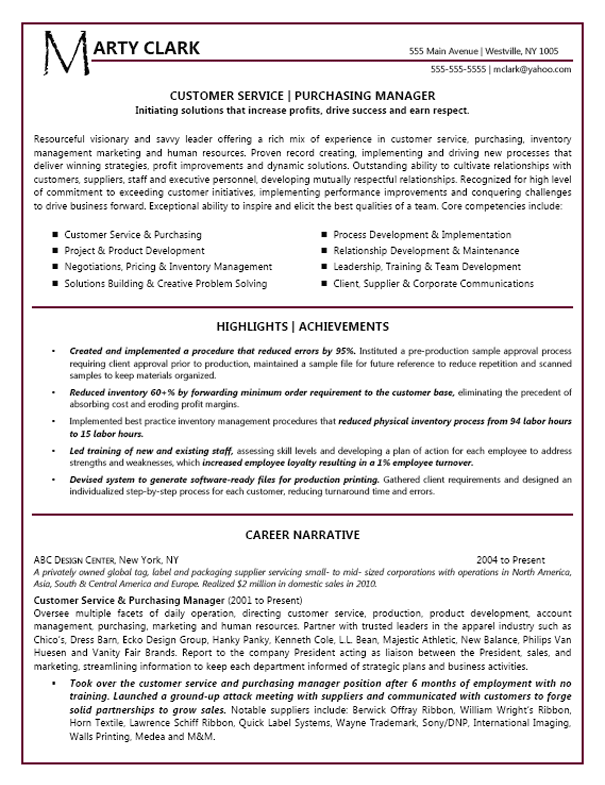 Resume Headline Examples For Customer Service