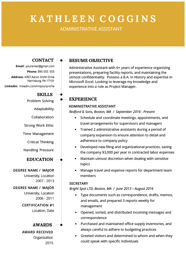 Functional Resume Examples 2019