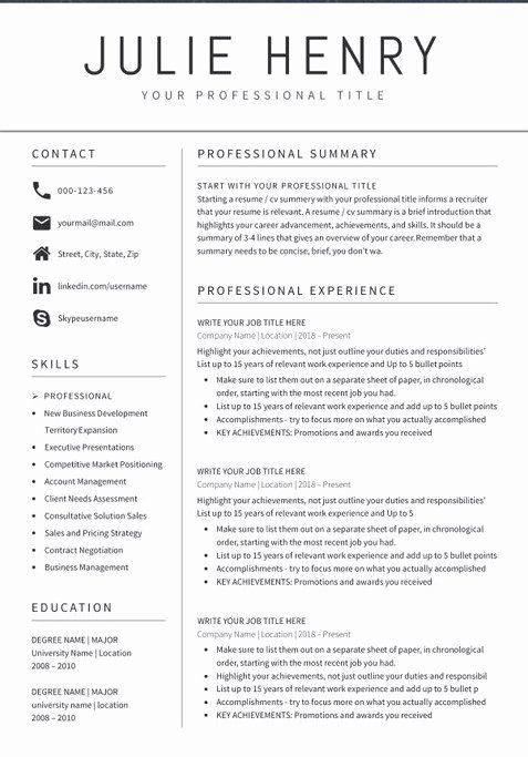 Good Resume Examples 2020