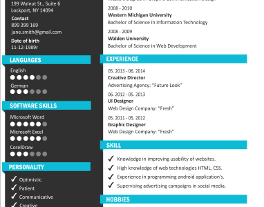 Online Resume Maker With Photo