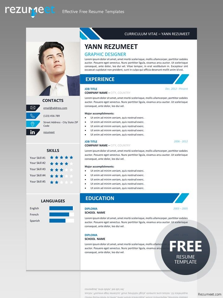 Resume Template Free Download Docx