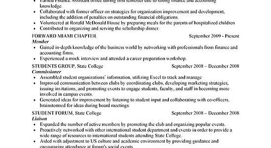 Sample Resume For Freshers With Internship Experience