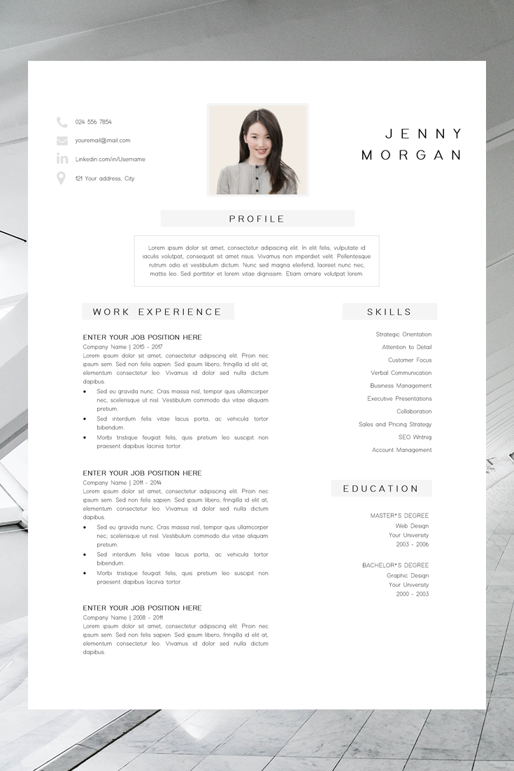 Simple Resume Layout Design