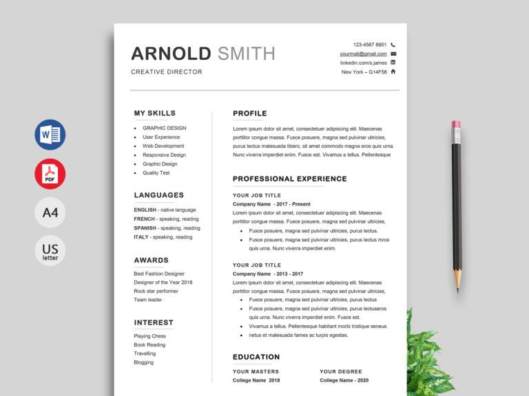 Resume Templates Word Free Download 2019