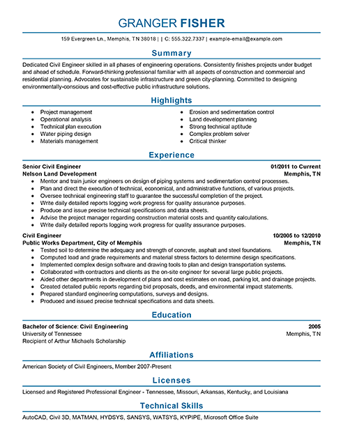 Perfect Resume Format For Engineers