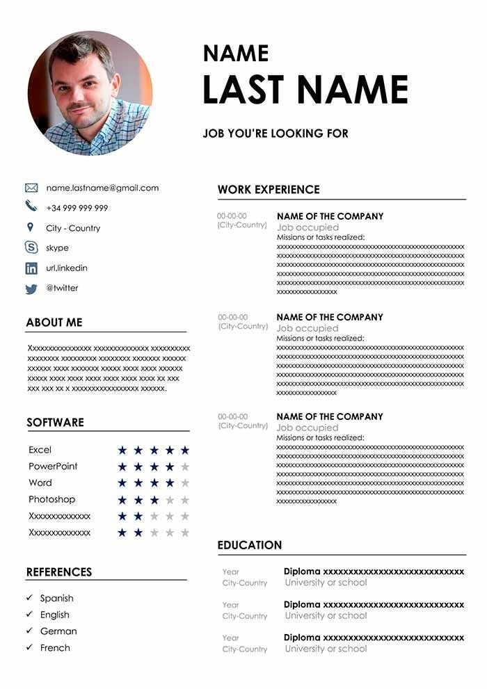 Perfect Cv Template Download