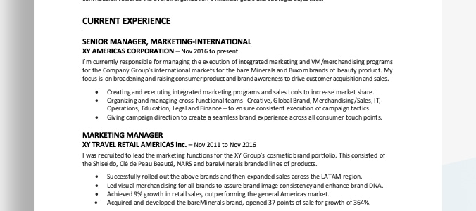 Resume Format 2020 Examples