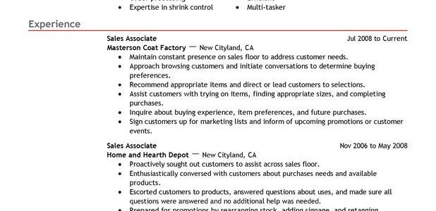 Good Resume Skills For Sales