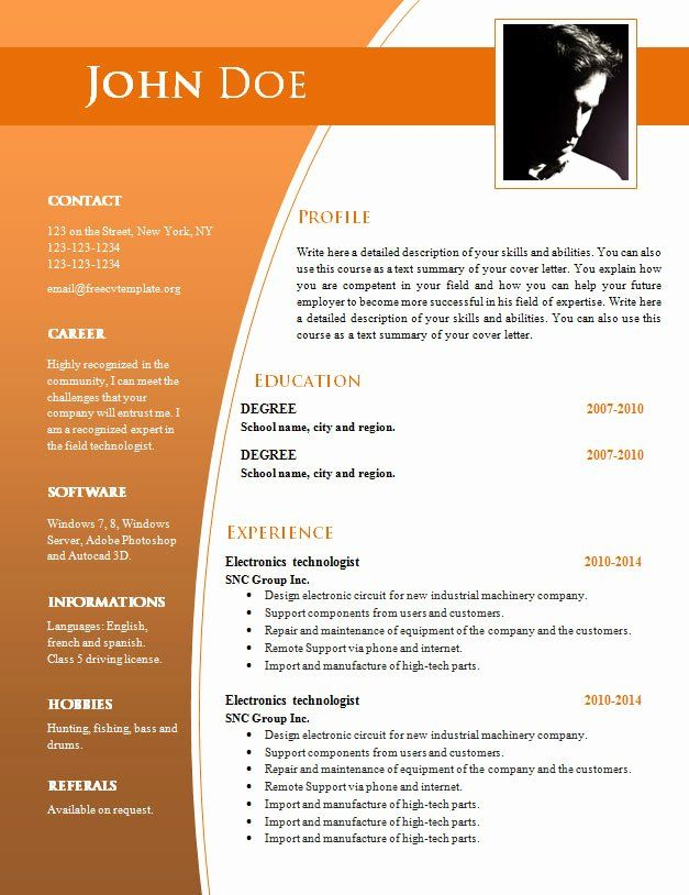 Resume Word Template .doc