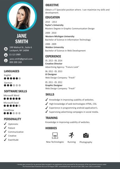 Online Resume Editor With Photo