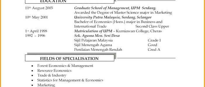 Resume Examples For Jobs Malaysia