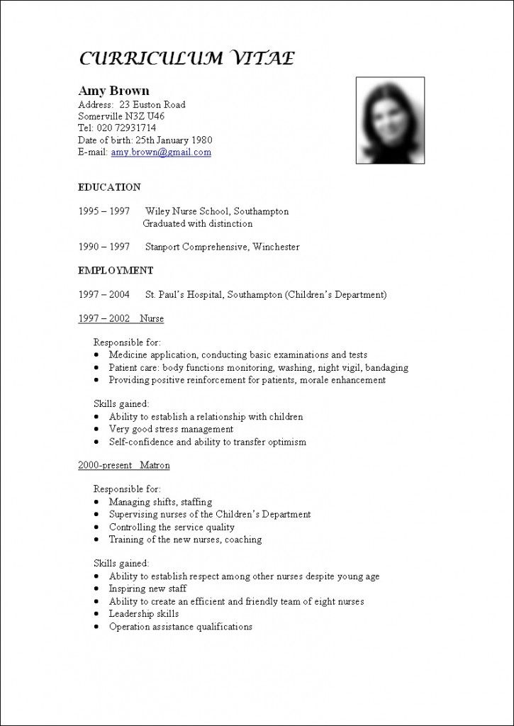 What Is Resume Letter