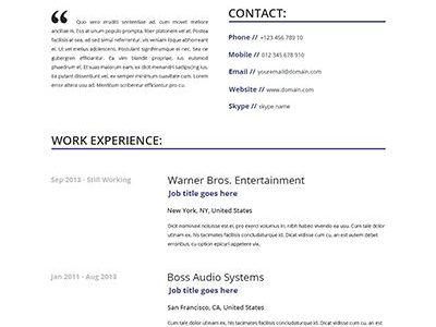 Resume Free Online Template
