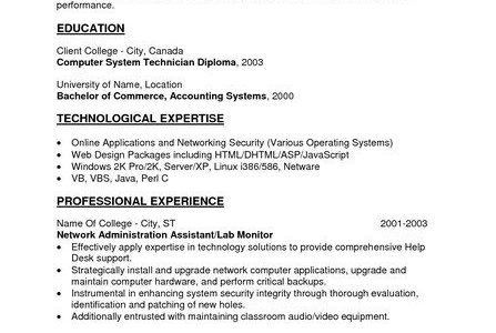 Resume Objective Statement Entry Level Examples