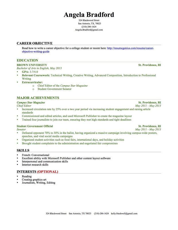 Making A Resume With No Experience