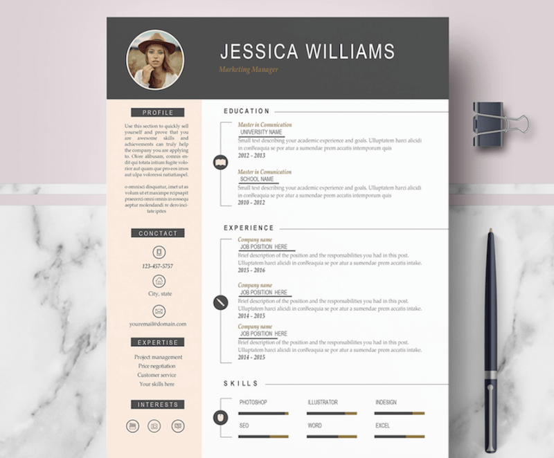 Resume Template Word Free Download 2019