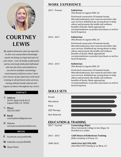 Free Corefunctional Resume Template For Word