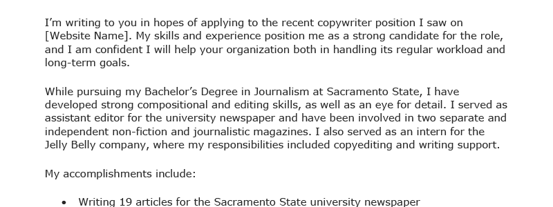 Resume Genius How To Write A Cover Letter