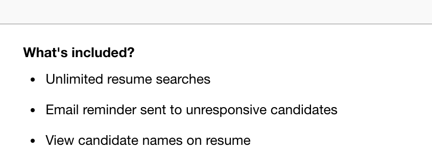 Indeed Resume Search Cost