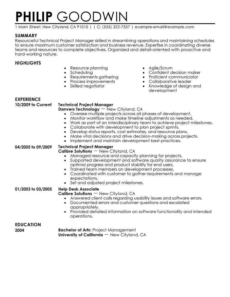 Perfect Resume Examples 2018