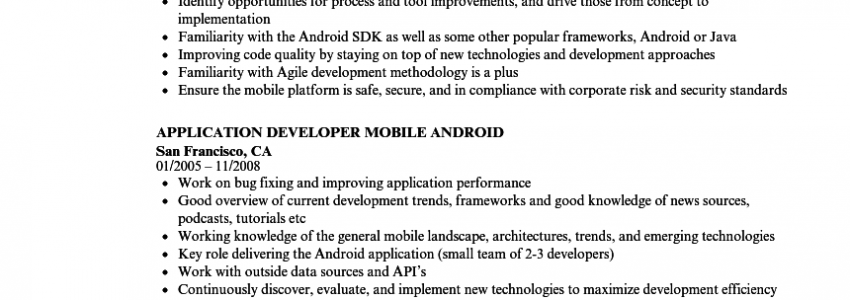 Make Resume On Android Phone