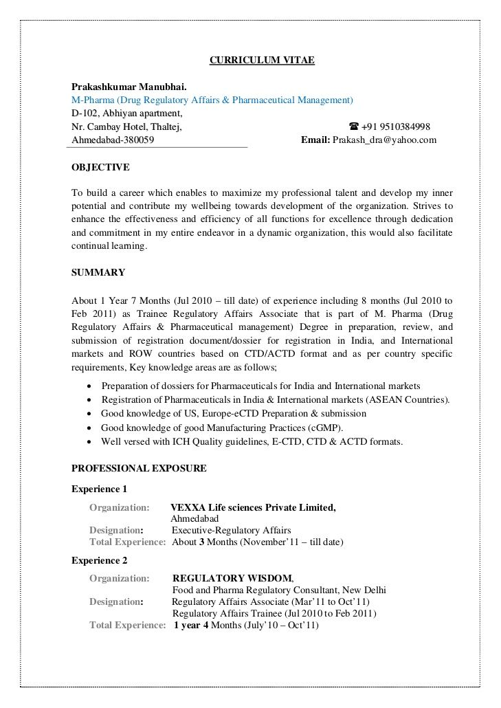 Resume Summary Examples For Freshers