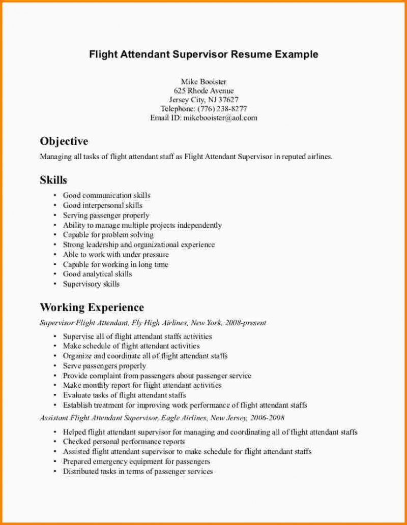 Resume Objective Sample For No Experience