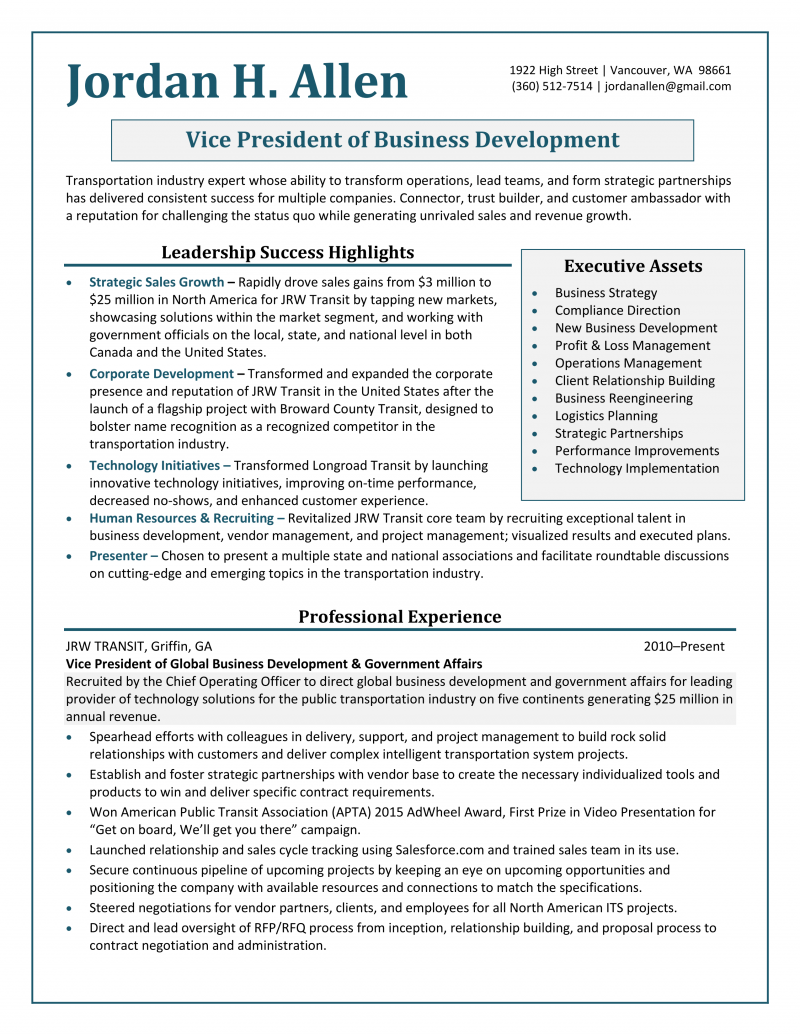 Professional Resume Services Vancouver