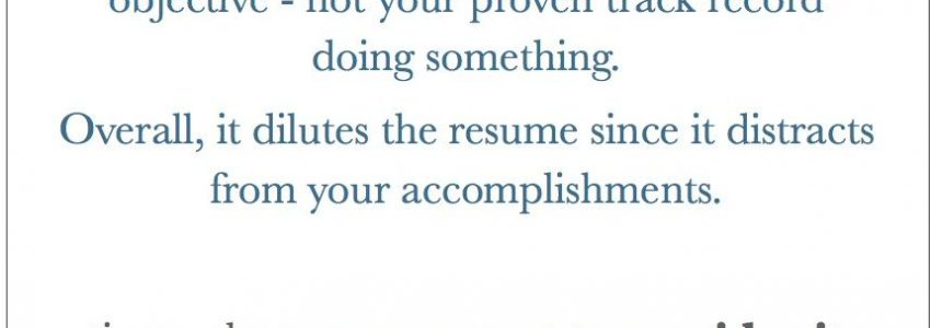 Objective In A Resume Is It Necessary