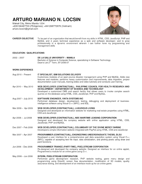 Resume Objectives For Fresh Graduate Business Administration