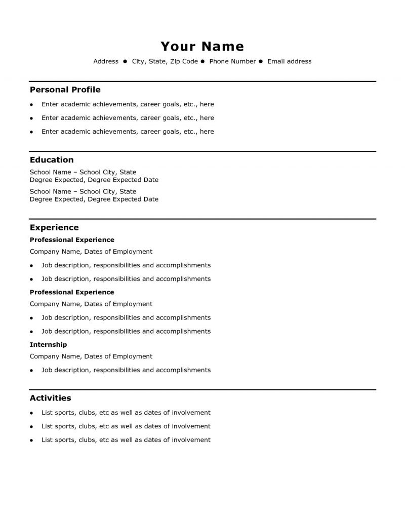 Resume My Work Meaning