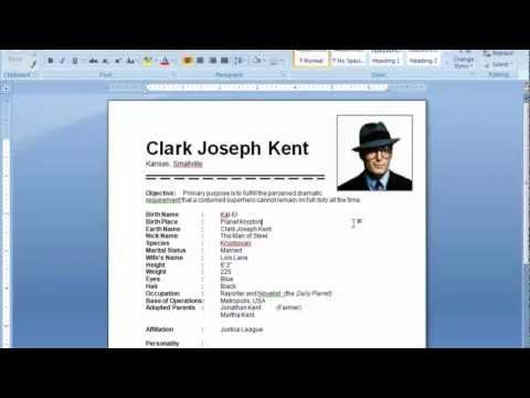 How To Make Resume In Word With Photo