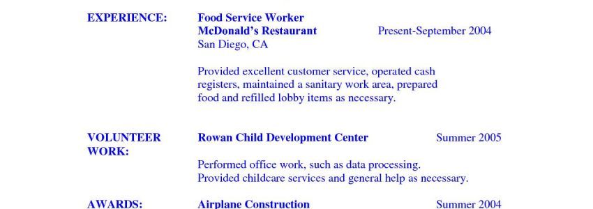 Resume Objective For Student Immersion