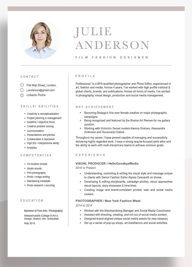 Functional Resume Examples 2020