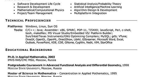 Resume Objective Examples For Engineering Students
