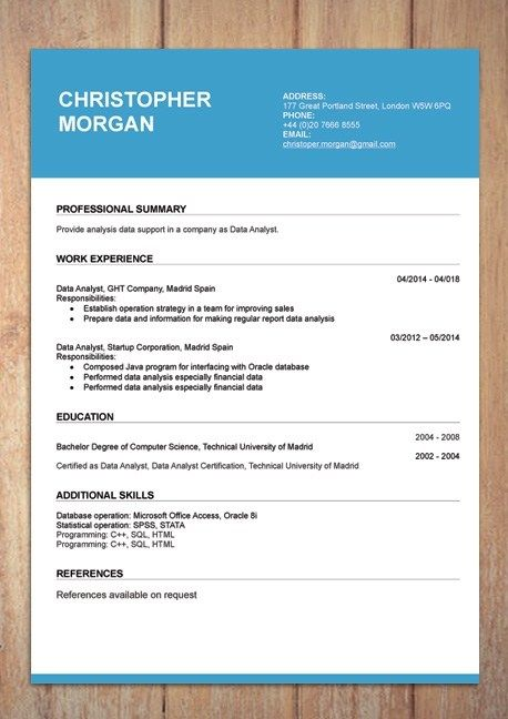 Making A Resume Template