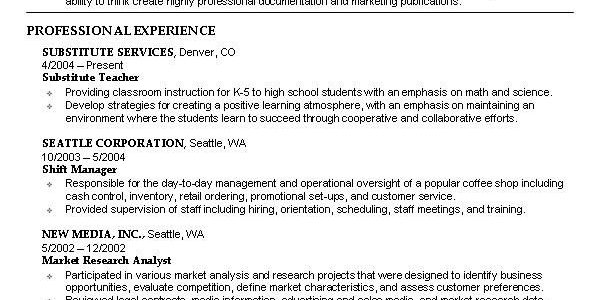 Perfect Resume Examples For Students